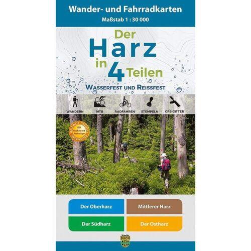 Der Harz in 4 Teilen. Wander- und Fahrradkartenset 1 : 30 000 -  Fahrradkarten