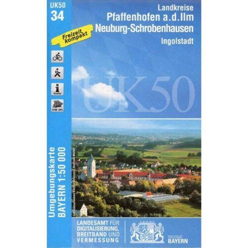 Pfaffenhofen - Schrobenhausen 1 : 50 000 (UK50-34) -  Wanderkarten und Winterkarten