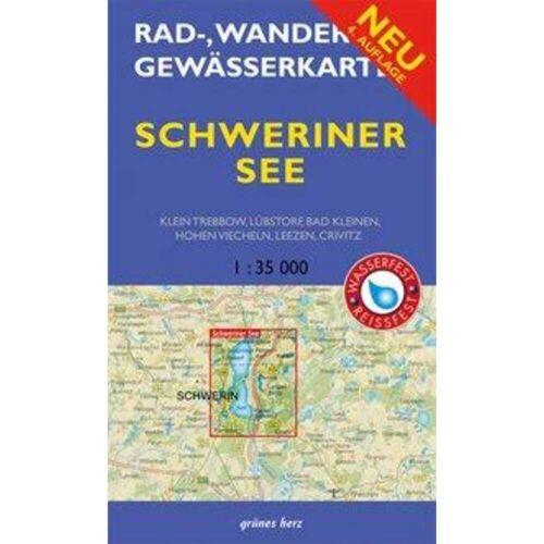Schweriner See 1 : 35 000 Rad-, Wander- und Gewässerkarte -  Wanderkarten und Winterkarten