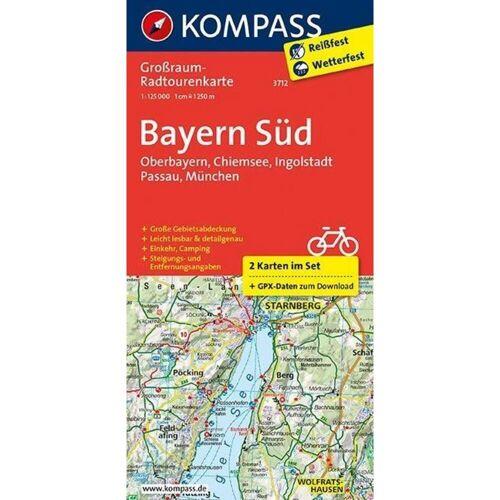 Bayern Süd, Oberbayern, Chiemsee, Ingolstadt, Passau, München 1:125 000 -  Fahrradkarten