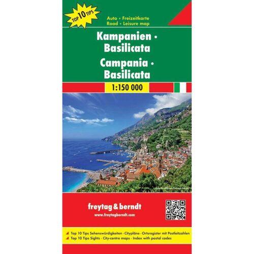 Kampanien - Basilicata 1 : 150 000 -  Straßenkarten
