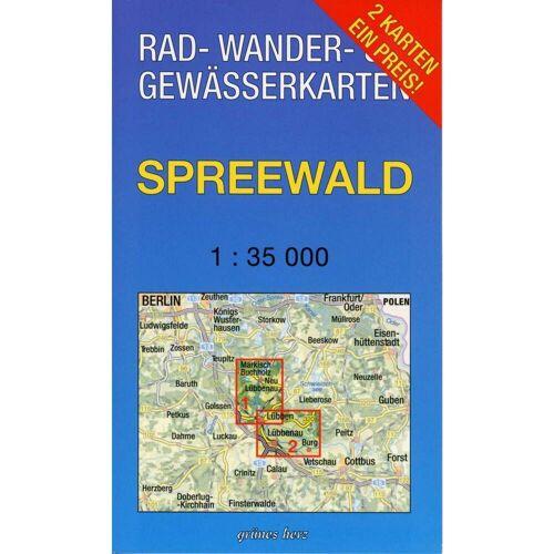 Spreewald 1 : 35 000 Rad-, Wander- und Gewässerkarten-Set -  Wanderkarten und Winterkarten