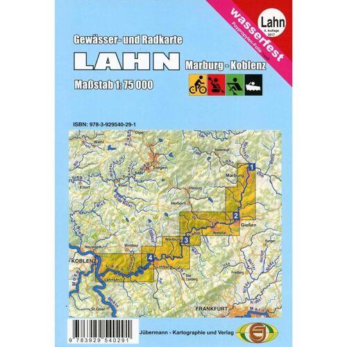 Gewässerkarte Lahn 1:75 000 -  Gewässerkarten
