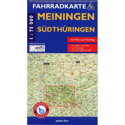 Meiningen Südthüringen Fahrradkarte 1 : 75 000 -  Fahrradkarten