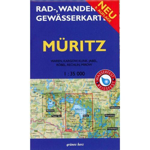 Müritz 1 : 35 000 Rad-, Wander- und Gewässerkarte -  Wanderkarten und Winterkarten