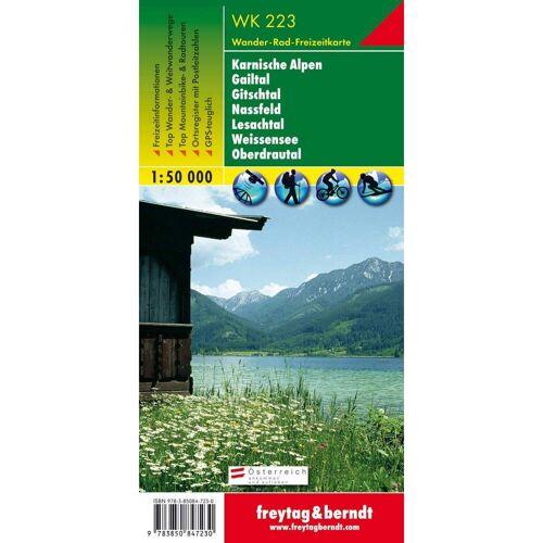 Karnische Alpen, Gailtal, Gitschtal, Nassfeld, Lesachtal, Weissensee, Oberdrautal 1 : 50 000. WK 223 -  Wanderkarten und Winterkarten