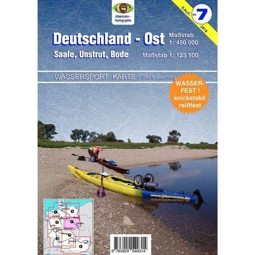 Wassersport-Karte / Deutschland Ost für Kanu- und Rudersport 1 : 125 000 -  Gewässerkarten