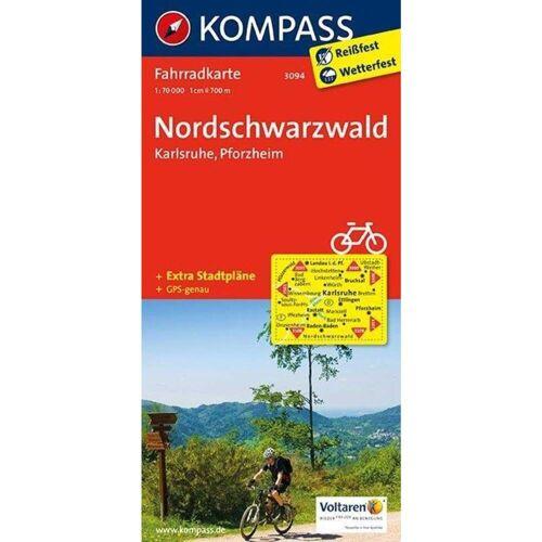 Nordschwarzwald - Karlsruhe - Pforzheim 1:70000 -  Fahrradkarten