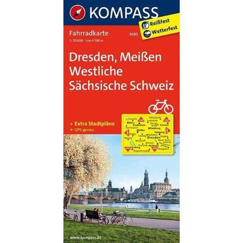 Dresden - Meißen - Westliche Sächsische Schweiz 1 : 70 000 -  Fahrradkarten