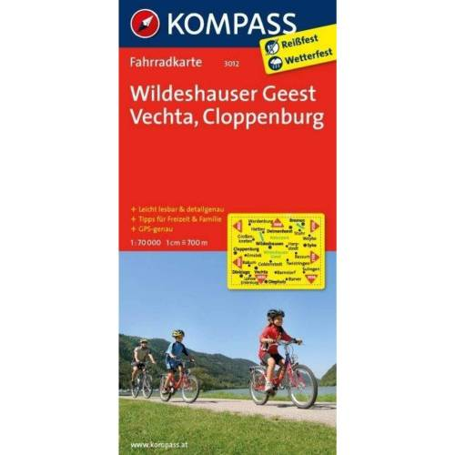 Wildeshauser Geest - Vechta - Cloppenburg 1 : 70 000 -  Fahrradkarten