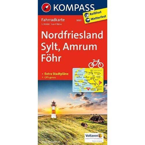 Nordfriesland, Sylt, Amrum, Föhr 1 : 70 000 -  Fahrradkarten
