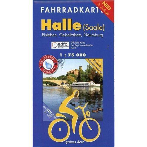 Halle (Saale) 1 : 75 000 Fahrradkarte -  Fahrradkarten