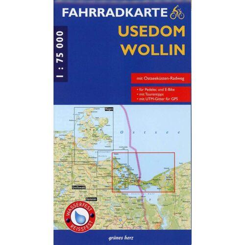 Usedom - Wollin 1 : 75 000 Fahrradkarte -  Fahrradkarten