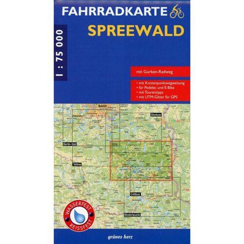 Spreewald 1 : 75 000 Fahrradkarte -  Fahrradkarten