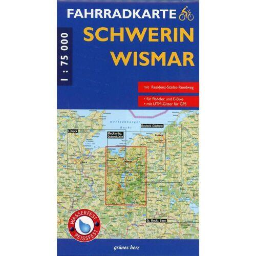 Fahrradkarte Schwerin - Wismar 1 : 75 000 Fahrradkarte -  Fahrradkarten