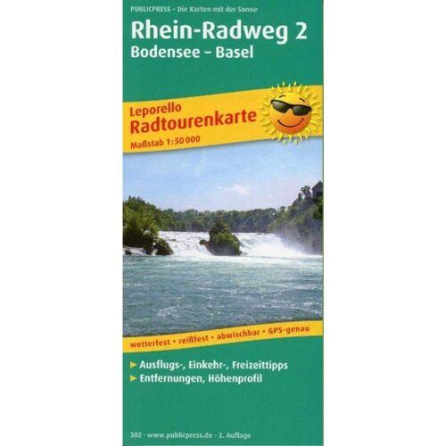 Rhein-Radweg 2, Bodensee - Basel 1 : 50 000 -  Fahrradkarten