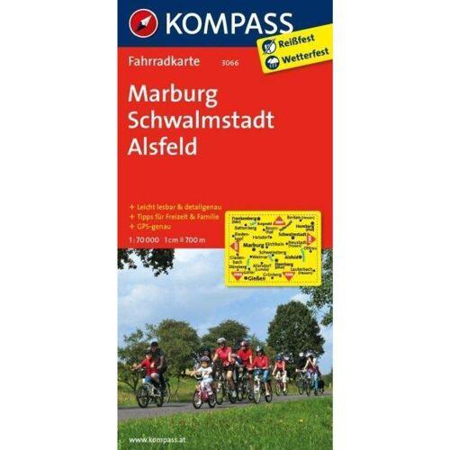 Marburg - Schwalmstadt - Alsfeld 1 : 70 000 -  Fahrradkarten