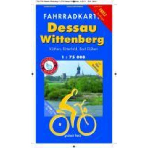 Fahrradkarte Dessau, Wittenberg 1 : 75 000 -  Fahrradkarten