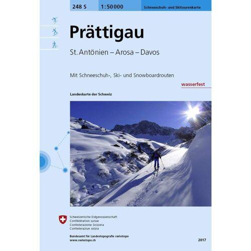 Swisstopo 1 : 50 000 Prättigau Ski -  Wanderkarten und Winterkarten