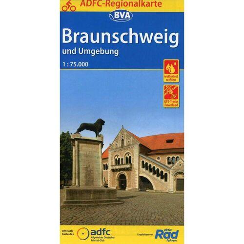 ADFC-Regionalkarte Braunschweig und Umgebung 1:75.000 -  Fahrradkarten