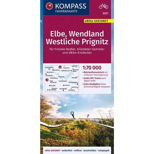 KOMPASS FAHRRADKARTE ELBE, WENDLAND, WES -  Fahrradkarten