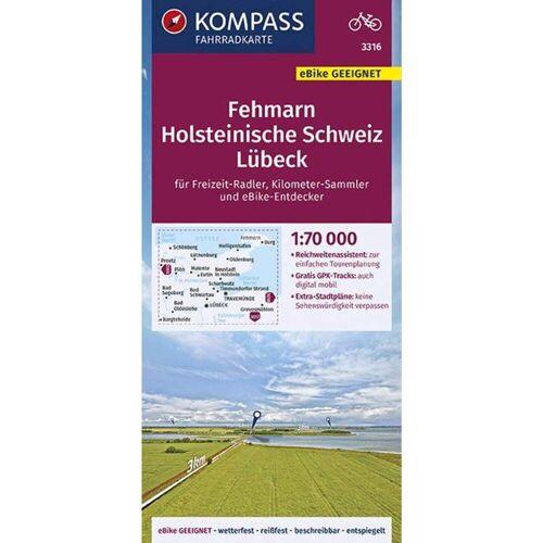 KOMPASS FAHRRADKARTE FEHMARN, HOLSTEINIS -  Fahrradkarten