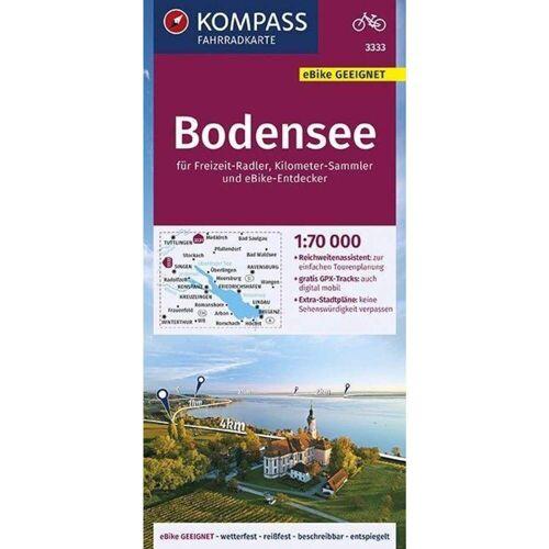 KOMPASS Fahrradkarte Bodensee 1:70.000, FK 3333 -  Fahrradkarten