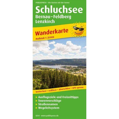 Schluchsee, Bernau - Feldberg - Lenzkirch 1:25 000 -  Wanderkarten und Winterkarten