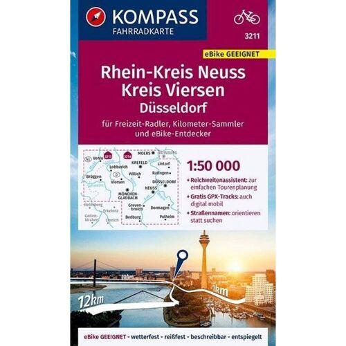 KOMPASS Fahrradkarte Rheinkreis Neuss, Kreis Viersen 1:50.000, FK 3211 -  Fahrradkarten