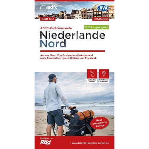 ADFC-RADTOURENKARTE NL 1 NIEDERLANDE NORD -  Fahrradkarten