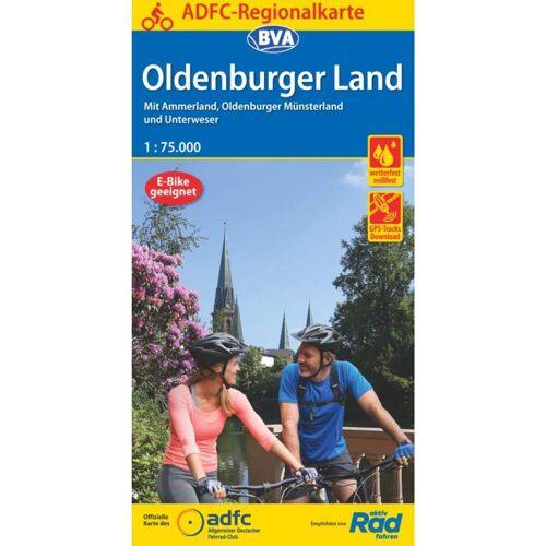 ADFC-REGIONALKARTE OLDENBURGER LAND -  Fahrradkarten