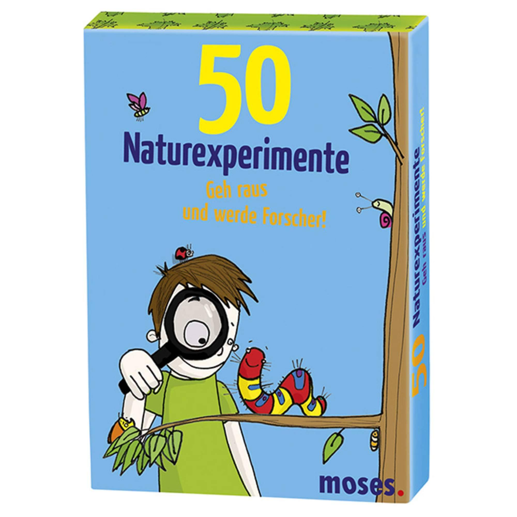 50 NATUREXPERIMENTE Kinder - Outdoor-Spiele - blau