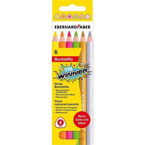 Eberhard Faber Buntstift »Buntstifte Neon Tri WINNER, 6 Farben«