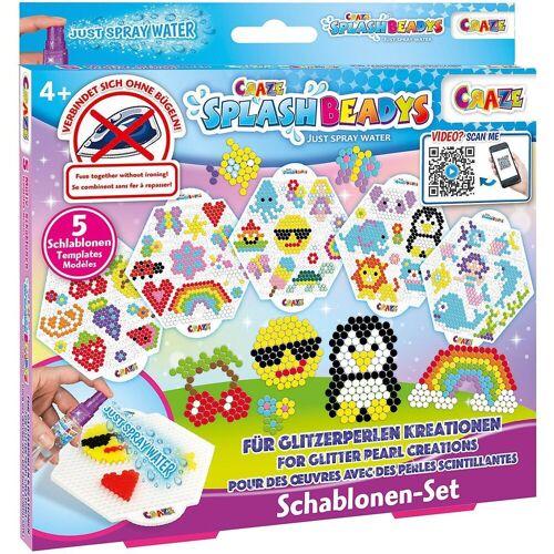 CRAZE Bastelperlen »Splash Beadys Schablonenset - Girls«