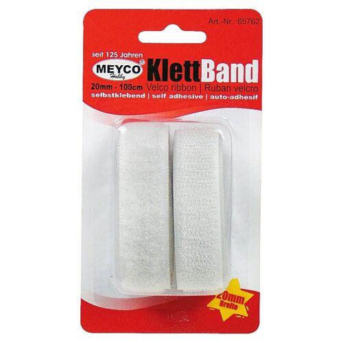 MEYCO Hobby Klettband »Klettband«, , selbstklebend, Weiß
