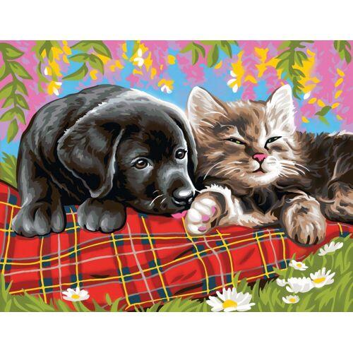 VBS Malen nach Zahlen »Malen nach Zahlen Hund und Katze«, 38,2 x 29,2 cm