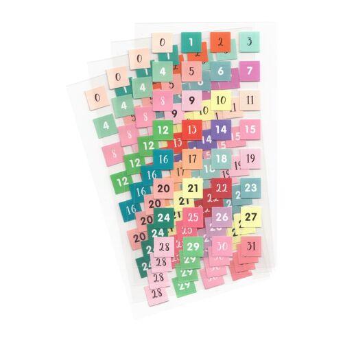Rico-Design Verlag Sticker »Zahlen 0-31«, 128 Stück