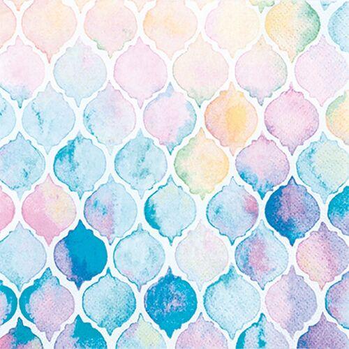 VBS Papierserviette »Wasserfarben«, (20 St), 33 cm x 33 cm