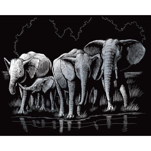 Royal Langnickel Kunstdruck »Elefanten«, 20 cm lang