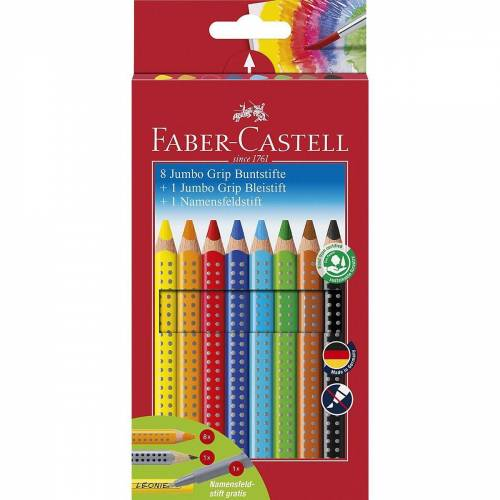 Faber-Castell Buntstift »Buntstifte JUMBO GRIP wasservermalbar, 8 Farben,«
