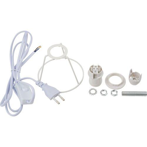 VBS Lampenfassung »Lampenfassung mit Kabel Schutzbügel weiß«, E14 mit Stecker