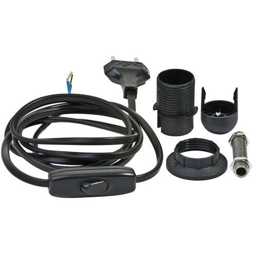 VBS Lampenfassung »Lampenfassung-Set E14 schwarz«, mit Stecker