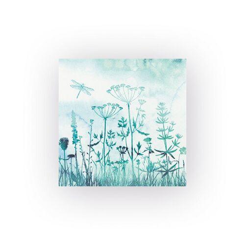 VBS Papierserviette »Libelle Aquarell«, (20 St), 33 cm x 33 cm