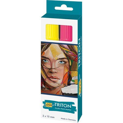 Kreul Marker »Acrylfarbstifte-Set Triton Acrylic Paint Marker 15«, Lichtecht, Wasserbasis