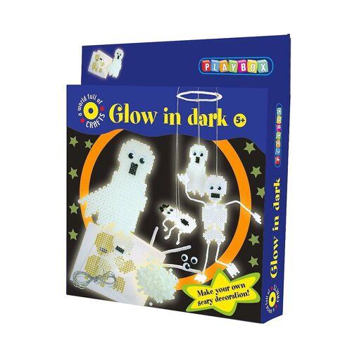 Playbox Bügelperlen »Bügelperlenset Leuchtende Gespenster, 1.100 Perlen«
