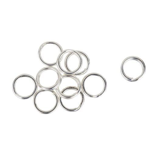 VBS Schmuckset »Spaltringe«, Ø 6 mm, 10 Stück, Silber