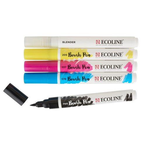 Talens Aquarellstifte »Ecoline Pinselstiftset Brush-Pen Basic-Set«, 5 Stück