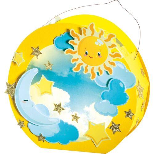 Folia Papierlaterne »Sonne, Mond und Sterne«, mit LED-Beleuchtung, 17,5 cm