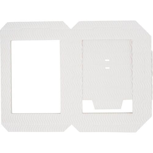 Folia Papierlaterne »Laternenszuschnitt«, 14 cm x 18 cm, Weiß