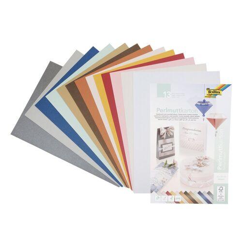 Folia Designpapier »Perlmutt«, 13 Blatt
